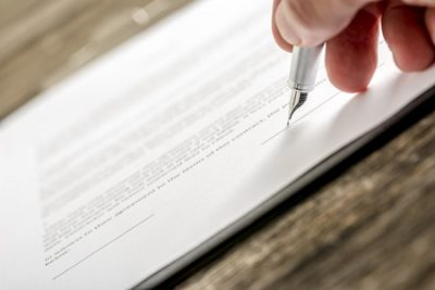 signing bottom of a document