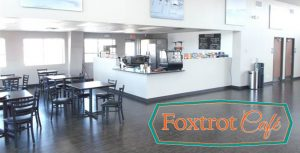 dinning area of foxtrot cafe