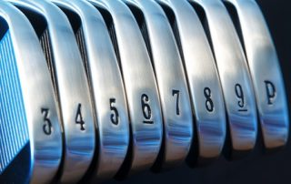 a brand new set of golf club irons