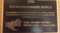 Historic Evergreen preservation plaque