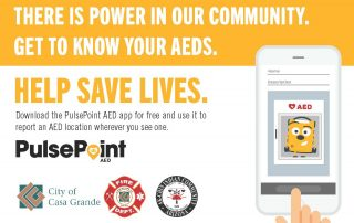 Pulse Point AED app flyer