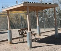 shaded outside area at animal care an adoption center