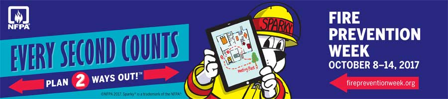 every second counts fire prevention week October 8-14