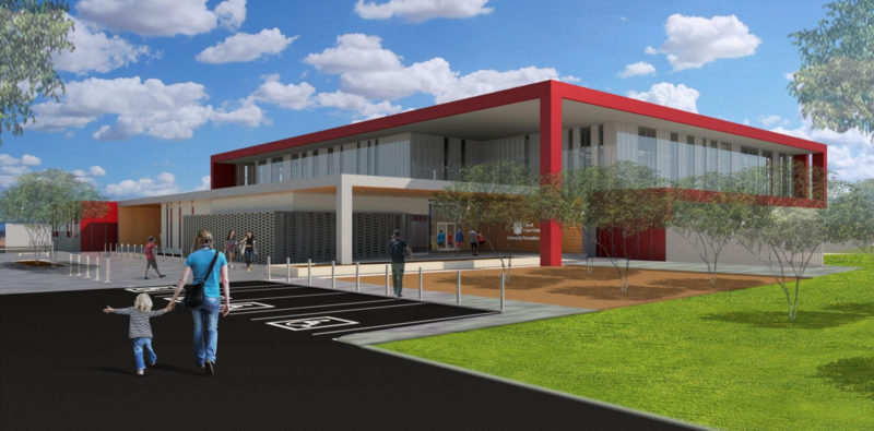 rendering of the future of the rec building