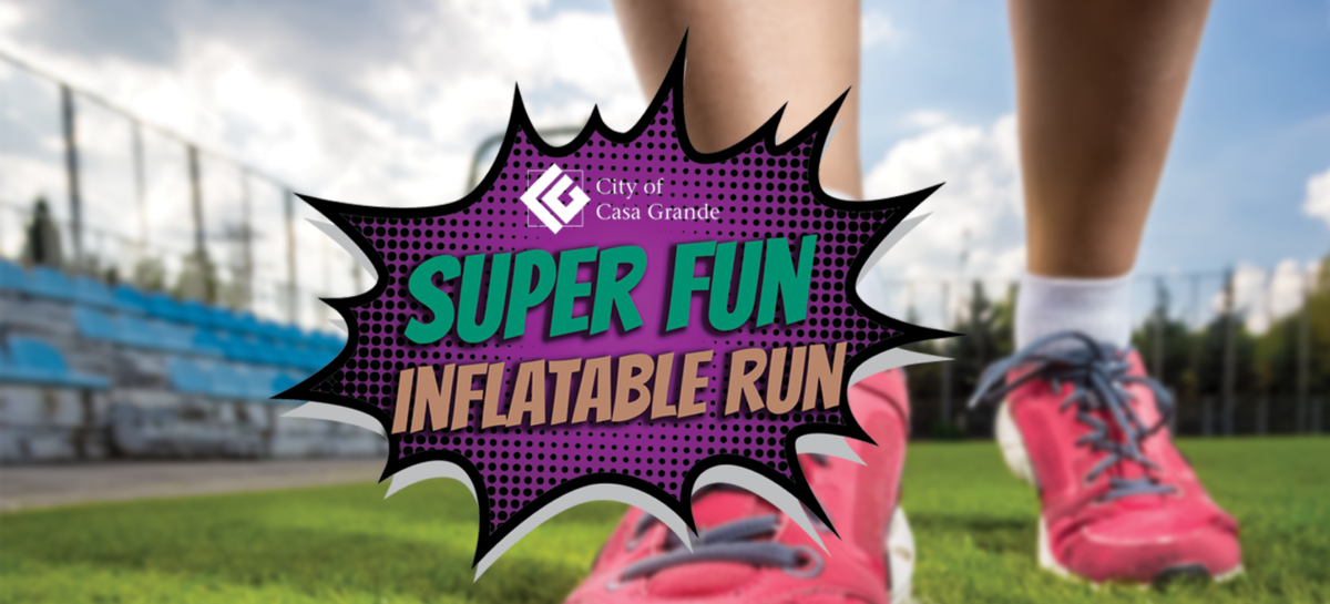 super fun inflatable run text overlay running shoes