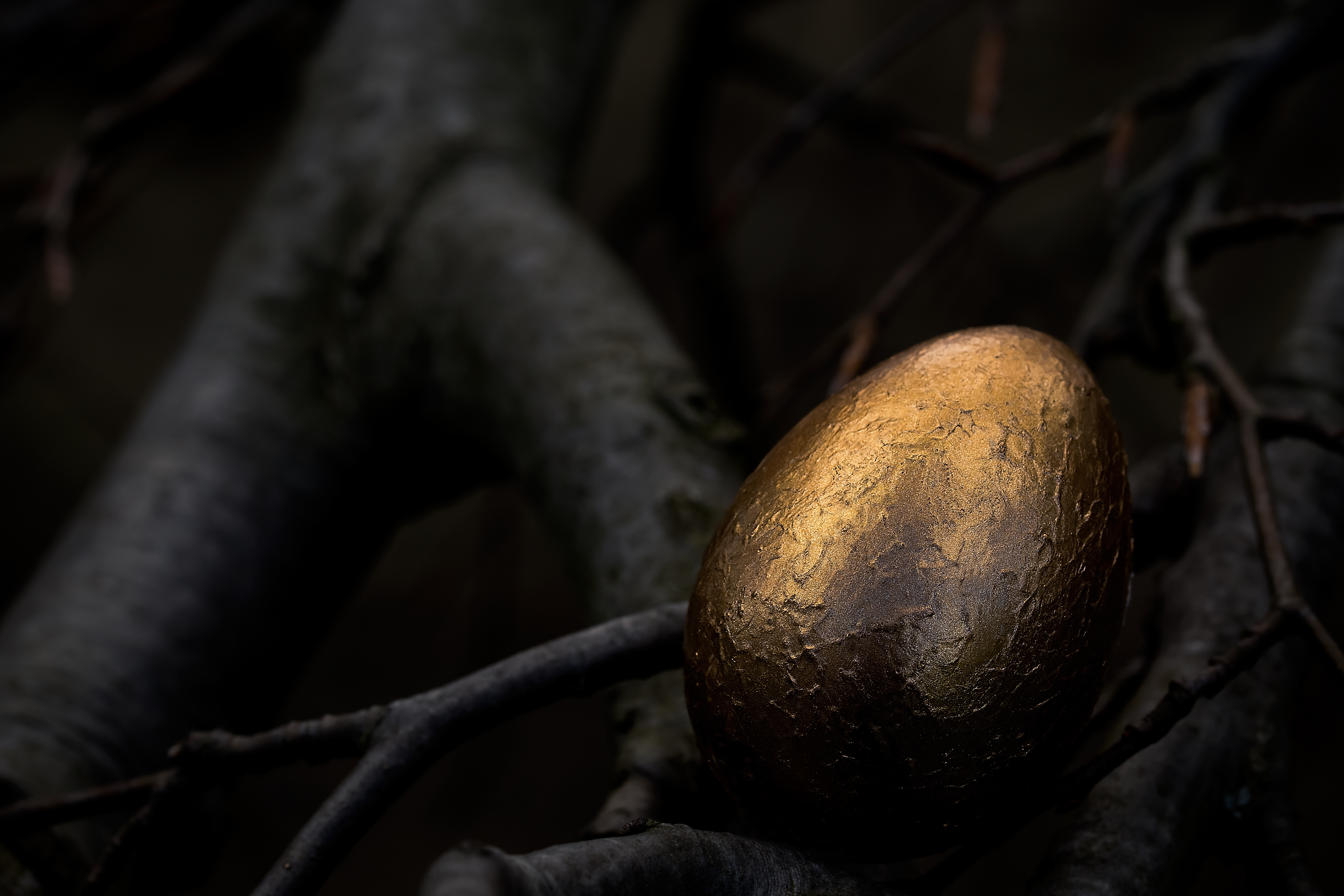 easter egg in the dark